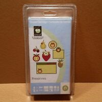 CRICUT *PRESERVES* SHAPES CARTRIDGE *NEW SEALED* CARDS LABELS LIDS TAGS WORDS...