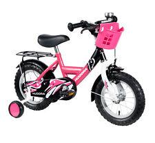 HUDORA 10542 Kinder Fahrrad mit Stützrädern Fahrrad für Mädchen 12 Zoll pink