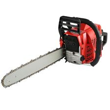 "58cc 18"" Bar Gas Powered Chainsaw Chain Saw Wood Cutting Aluminum Crankcase"