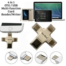 4 in 1 Micro SD Card Reader For Smartphones/Android USB Type-C/Mac/PC iPhone OTG
