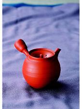 Shudei red kyusu teapot - HUGETSU MURAKOSHI (290cc/ml) ceramic mesh