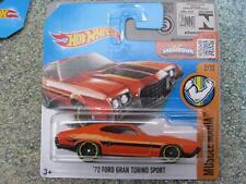 Hot Wheels 2016 #122/250 1972 Ford Gran Torino Sport orange MUSCLE MANIA Case K