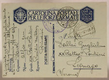 Office Concentration Camps Mail Military Bari 25.1.1941 (Marquis P.4) #XP101
