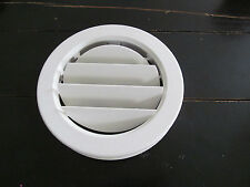 "6 7/8"" WHITE Round Ceiling A/C Vent 7/8"" Collar Cover Screw Open Close Rotate RV"