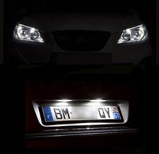 4 light bulbs LED white lights of plate + Night lights for Renault Scenic 1