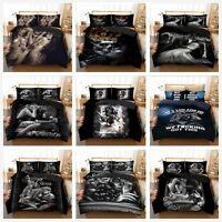 Gothic Skull Duvet Cover Pillow Cases Quilt Cover Bedding Set Single Double King