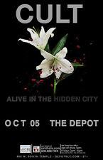 "CULT ""ALIVE IN THE HIDDEN CITY"" 2016 SALT LAKE CITY CONCERT TOUR POSTER"