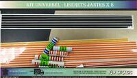liseret jante UNIVERSEL Moto Auto - 8 bandes de 1cm x 50 cm - couleur au choix