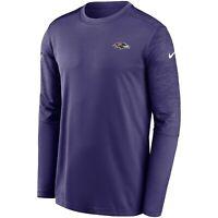 2020 Baltimore Ravens Nike Sideline Coaches UV Performance Long Sleeve T-Shirt