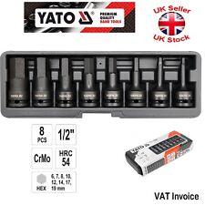 Yato professionnel Douille impact hexagonale tailles 9-19mm pièces Set 8 1.3cm