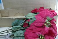 Poinsetta Artificial Stem Bunch Home Interiors & Gifts Set of 2