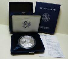 2004 Proof American Silver Eagle  Dollar  with Box and COA