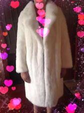 Rare New White / Ivory Mink Fur Coat Long