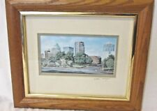 "William Mangum ""Spirit of Greensboro"" Print Framed Signed City Sky Line"
