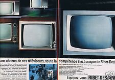 Publicité Advertising 026 1964 Ribet-Desjardins téléviseur (2 pages)