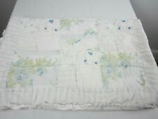 Simply Shabby Chic 1 Standard Pillow Sham Blue British Rose Patchwork