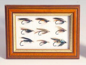 vintage fishing framed salmon flies