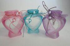 Glass Heart Shaped Jar Set! Pink, Purple, & Blue!
