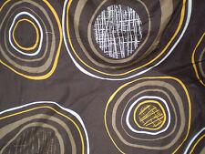 Retro VINTAGE ORANGE & BROWN ABSTRACT LARGE CIRCLE PRINT Fabric (100cm x 50cm)