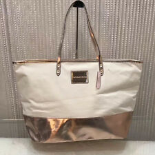 New Victoria S Secret Metallic Gold Beach Per Book Weekend Tote Bag Lbag101