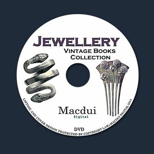 Jewellery Vintage Books Collection 69 PDF E-Books 1 DVD How to Make Gold Silver