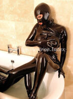 Latex Rubber Tights Bodysuit Sexy Suits With Mask Catsuit Size XXS-XXL