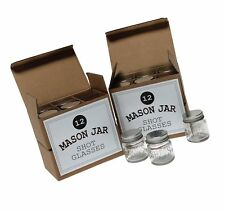 Mason Jar 2 Ounce Shot Glasses Set of 24 With Leak-Proof Lids - Great For Sho...