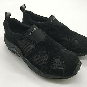 Merrell Jungle Moc Ventilator Women's Size 6.5 Black Slip On Hiking Shoes