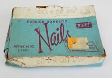 "Vintage Hardened Square Nails 8-D C.H. CUT USI Foreign Domestic 2 1/2"" Long"