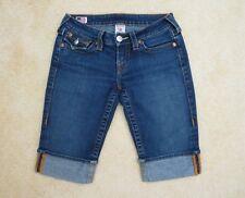 True Religion Sophie Denim Capri Bermuda Shorts Size 26