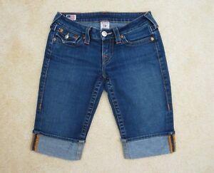 True Religion Sophie Jeans Capri Bermuda Short Taille 26