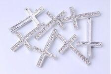 New CZ Crystal Cross Bracelet Connector Charm Bead making bracelet 10pcs