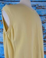 Scott Barber Sweater Vest Men's Pullover Size XL Cotton Yellow Italy Golf V-Neck