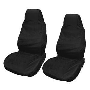 2pcs Black Reusable Waterproof Car Front Seat Covers Protectors Universal Van UK