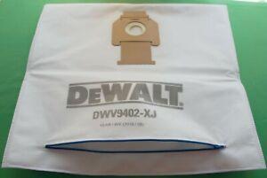 Dewalt DWV9402 XJ REUSABLE With Zip dust extractor Filter Bag for QWV902L DWV90M