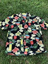 Sun casuals : Hawaiian Shirt. Cocktails Tropical Mens Large Casual Summer Floral