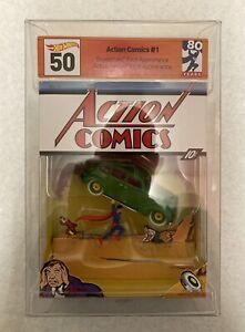 SDCC 2018 Mattel Hot Wheels Superman Action Comics #1 80th Anniversary DC NO BOX