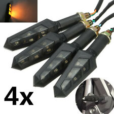 4x Bike Motorcycle LED Turn Signal Indicator Light Turning Lamp Amber Universal
