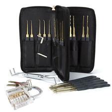 24 Pcs/set Lock Pick Tools Transparent Padlock Locksmith Training Padlock Tools
