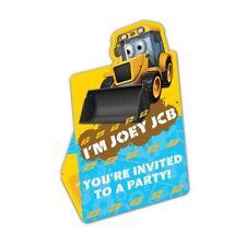 My 1st JCB Invites & Envelopes 8pk Birthday Party Stationary