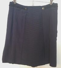 Girls from Savoy Navy Blue Skirt Exposed Back Zipper Career Work Womens Size 6