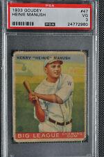 1933 Goudey - Heinie Manush - #47 - PSA 3 - VG