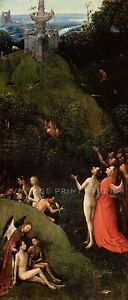 Terrestrial Paradise1490 Hieronymous Bosch Giclee Canvas Print 17x40