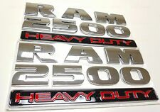 2 Chrome RAM 2500 DOOR BADGE LETTER RAM2500 nameplate 2010 2011 2012 2013 2014