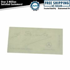 OEM Clear Windshield Glass Decal Daimler Signed Signature for Mercedes Benz