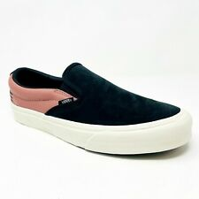 Vans Taka Hayashi Slip On 66 LX (Leather Nubuck) Black Old Rose Red Mens