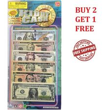 Play Money Kiddy Cash Fake Paper dollar Bills Kid Play Pretend Currency 90Pcs