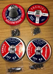 AIR GUN SAMPLE PELLET PACKS .177- 4.5mm -  FOUR DIFFERENT TYPES