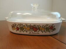 RARE VINTAGE 1970'S CORNING WARE SPICE OF LIFE COVERED CASSEROLE LE ROMARIN