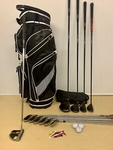 Mens Full Set Hippo Hiptec Golf Clubs & Trolley Bag / Beginners Right Handed